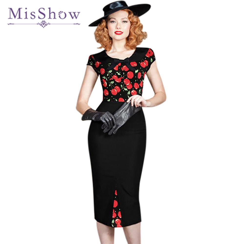 Viscose 2019 Cherry Print Wrap Style Midi Dress 2019 Spring Summer French Style Cherry Printed Elegant Casual Dress 2019 Official Women's Clothing