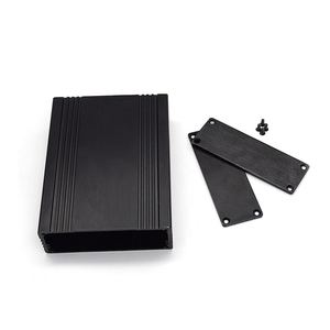 High Quality wire Drawing Black color heat sink metal extrusion aluminum junction boxes