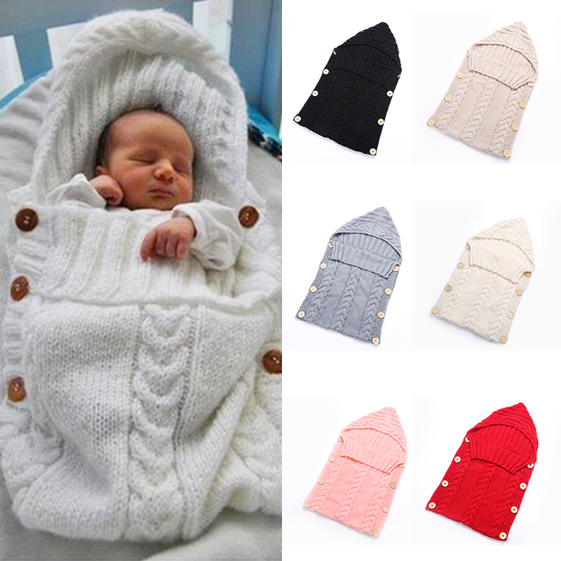 7 Colors Baby Kids Cotton Knitted Blanket Cover Boys Girls Sleeping Wrap