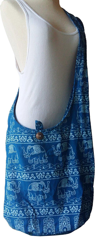 c40dcaa05056 Get Quotations · PAPAYA SHOP Hippie Elephant Sling Purse Handbags Crossbody  Shoulder Bags Messenger Bags Hobo Bags Hippie Bag