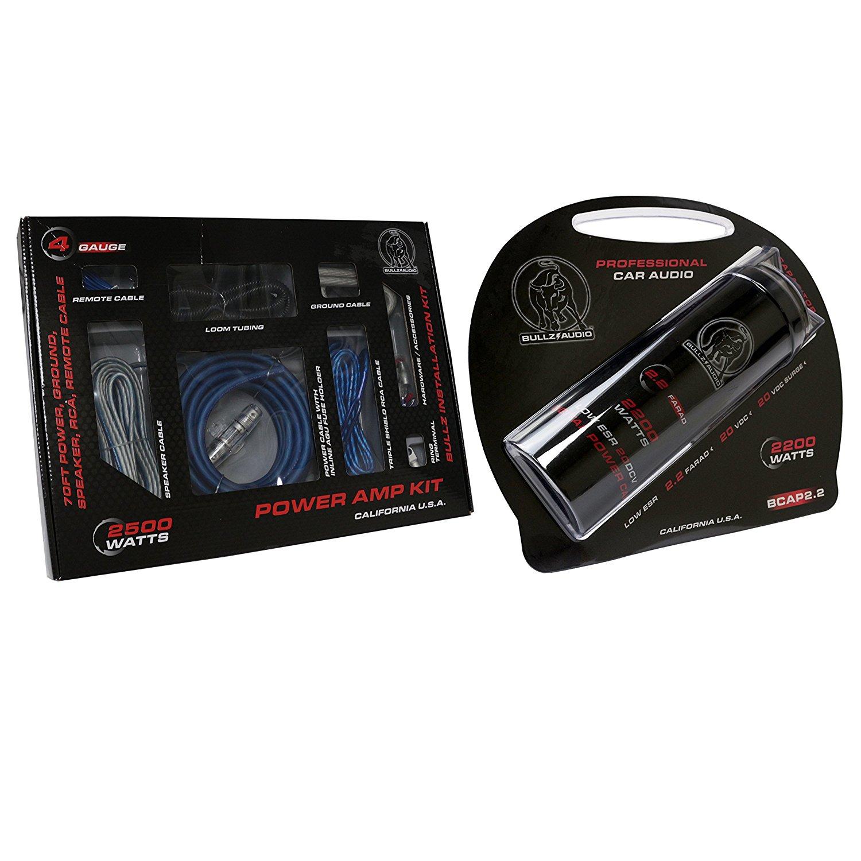 Bullz Audio Epak4bl 2 4 Gauge Amplifier Wiring Kits T 8500w Dual Amp Pro 3 Rca Wire Kit Farad Capacitor Ebay Get Quotations Spak4bl 22 Car Digital Power Installation