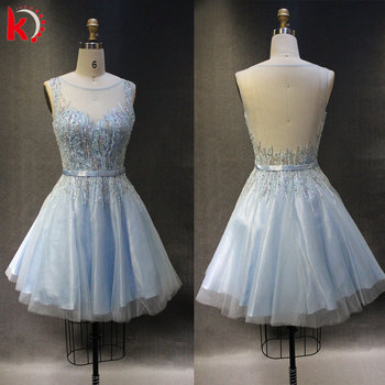81e74f5c515 see through at the lace short ball gown elegant sequins prom evening dresses