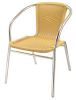 Uplion MY2002 outdoor Round PE rattan aluminum frame garden chairs