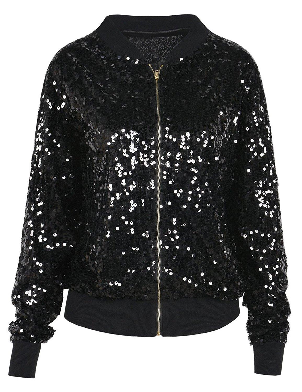 Speechless Girls Big Sequin Front Lightweight Jacket
