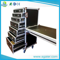 Aluminum Flight Case Carrying 7 Drawers and One Table on Side