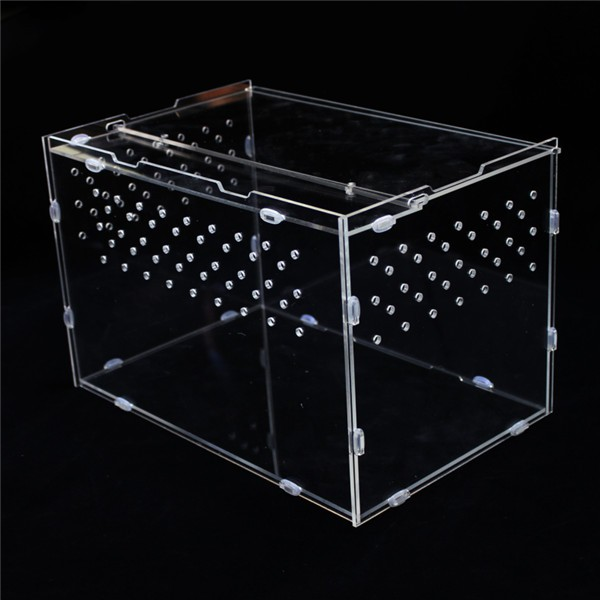 Hot Selling Clear Acrylic Tortoise Beetle Horned Frog Spiders Snakes Container Assemble Reptile Display Case