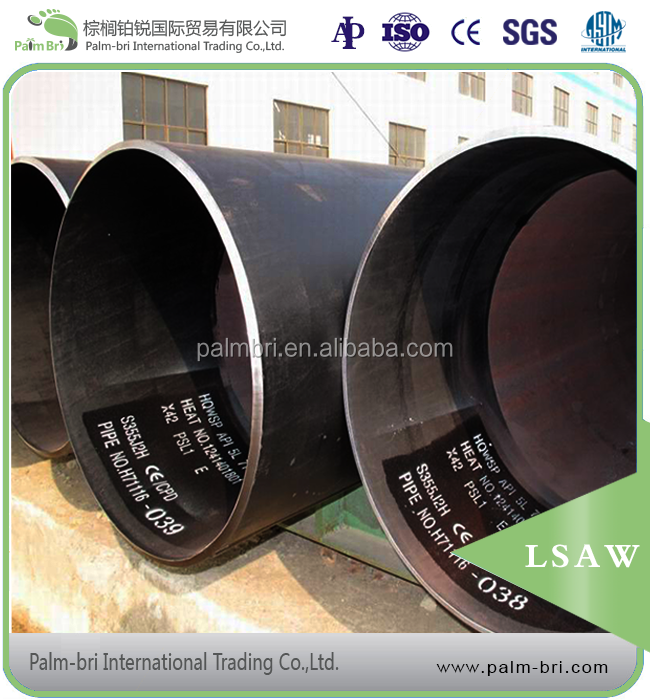 API 5L X46 X52 X56 X60 X70 high quality black LSAW steel oil pipeline