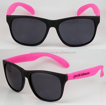 afe736413c9 Black frame and neon pink arms promo sunglasses with very lowest price