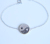 promotion 100% 925 sterling silver daizhe jewelry factory ying yang charm germanium bracelet
