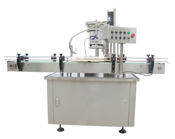 Automatic round plastic cans capping machine for manual feeding cans