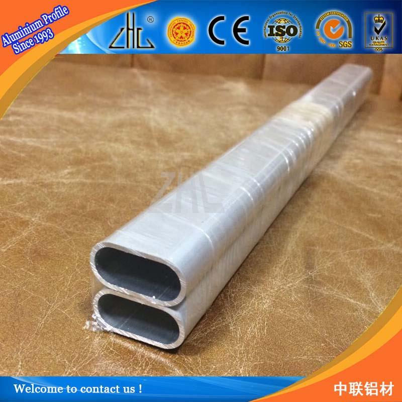 T aluminum profiles tube aluminium oval shape