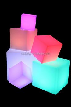XV XXXX CB LED Lighting Cube/Eco Friendly PE Plastic Stool/