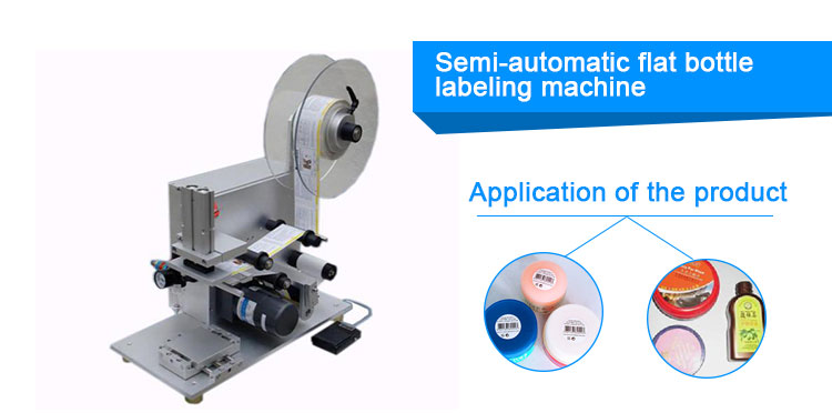 Double Sides Automatic Bottle Labeling Machine For Flat Or Round Bottles