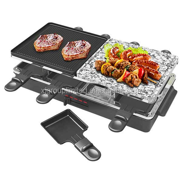 8 person electric raclette grill hot stone grill