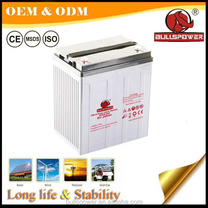 Solar inverter 24 volt 200ah 24V deep cycle lead acid <strong>batteries</strong> 8v