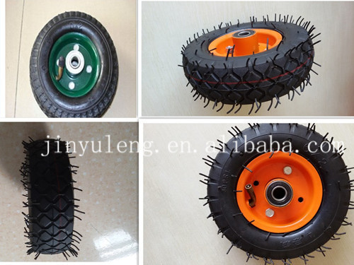 Europe standard 6x2 inch small environmental bearing pneumatic rubber trolley wheel