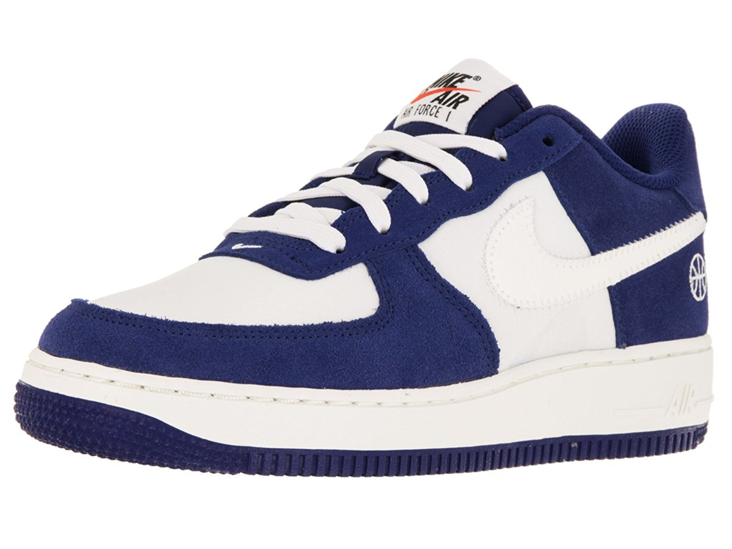 sports shoes c20ee 4a730 Nike Kids Air Force 1 (GS) Deep Royal Blue Sail Phantom Basketball