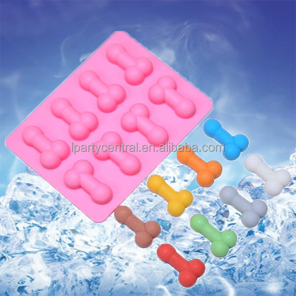 2017 Hen party pink naughty favors silicone penis ice cube tray LP
