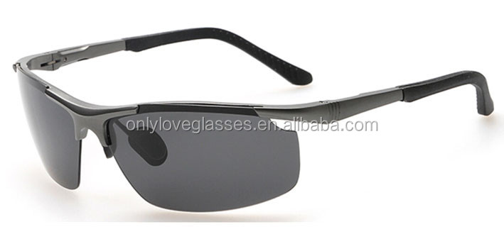 Aluminium sport sunglasses,yellow lens night vision driving glasses.