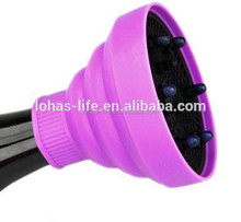 salon tools curl hairdryer silicone collapsible hair diffuser