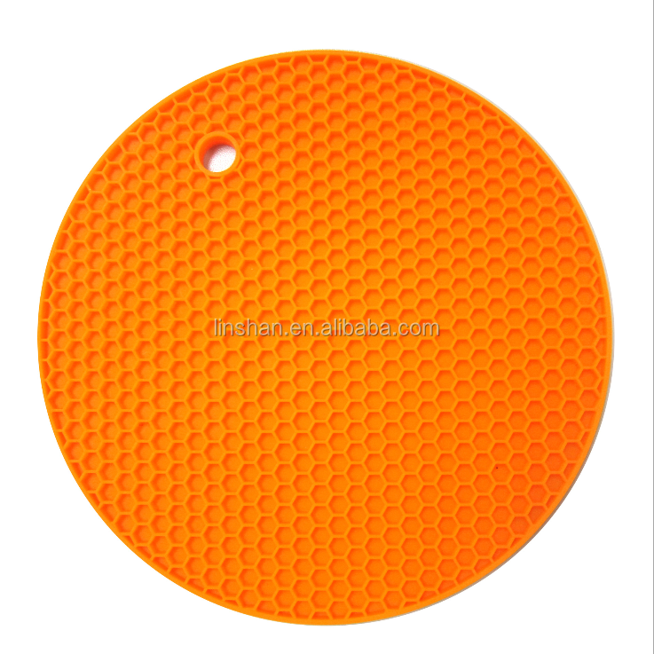 Multi Color Silicone Pad Holder, Trivet Mat, Round Honeycomb,Non Slip, Flexible, Durable, Dishwasher Safe