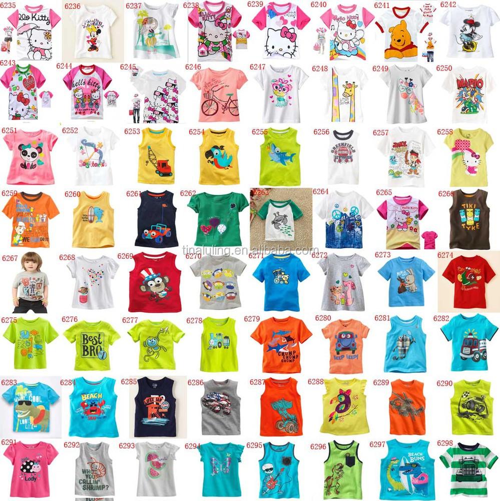 Girl White Sleeveless Kids T-shirts Design Girl T-shirt 100 ...