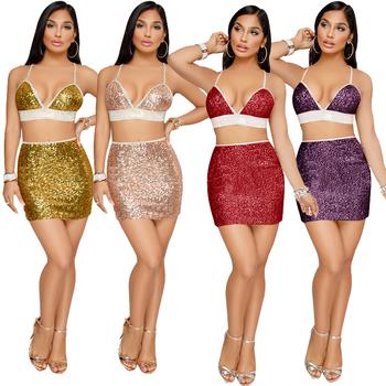 1f774275ccb Sexy Spaghetti Strap Sequin Dress Backless Bodycon Split  Gold/Red/Purple/Champagn tight