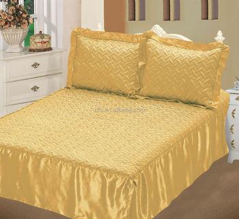 Hot Sale 3pcs Satin Bedspread Set Buy Bedspread Set