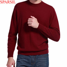 Winter Autumn Man O-Neck Cashmere Sweater 2015 Casual Knitwear Pullover For Male 8 Solid Colors Knitted Sweater Plus Size