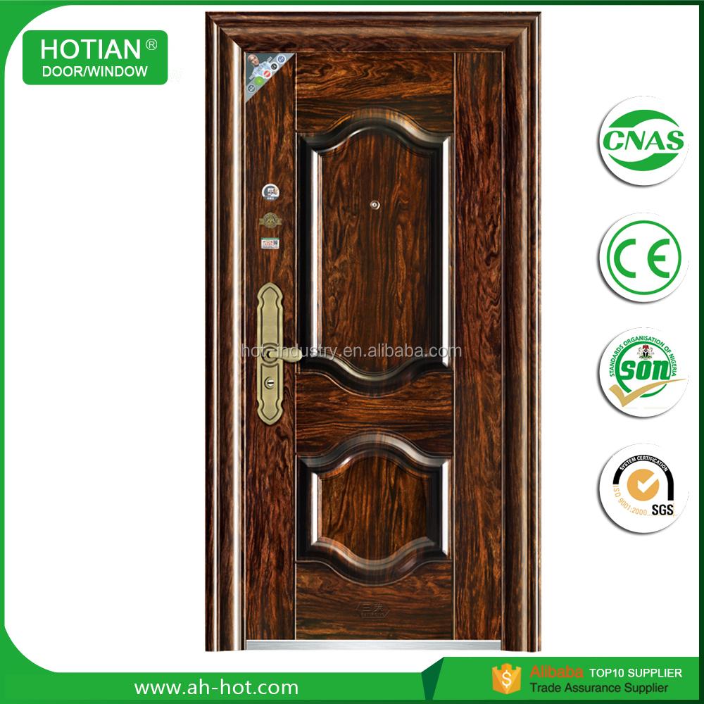 House Main Gate Designs Galvanized Steel Door Frame Security Steel