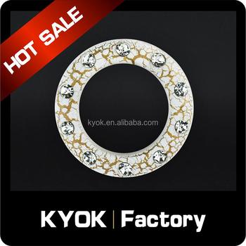 Kyok White Gold Crack Curtain Eyelet Rings Diamond