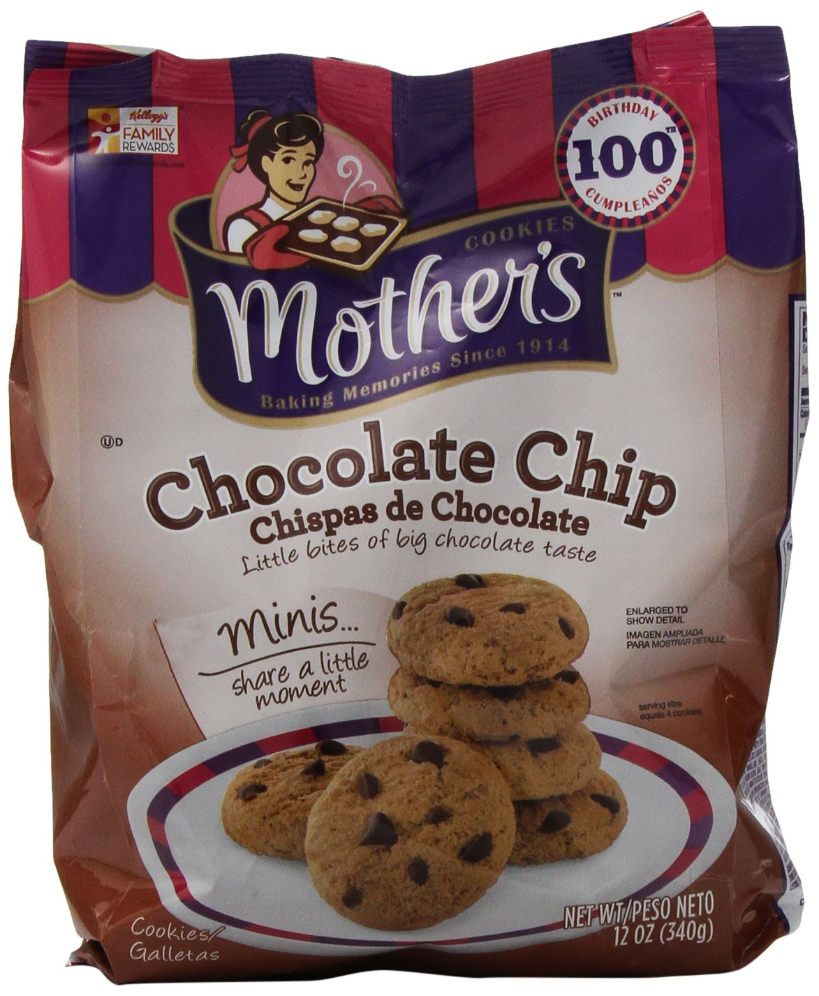 Mother's Chocolate Chip Cookies, 12 Ounce (Pack of 4)
