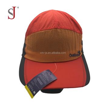Custom Embroidery 100% Nylon Hat 7 Panel Unstructured Waterproof Korea Mesh  Inside Outdoor cap Running fe887f00d48