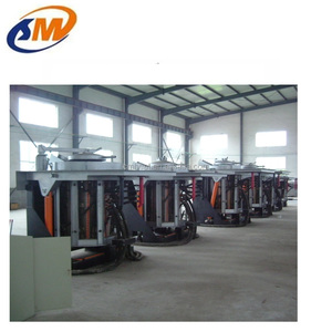 China qingdao electric iron scrap melting medium frequency induction furnace