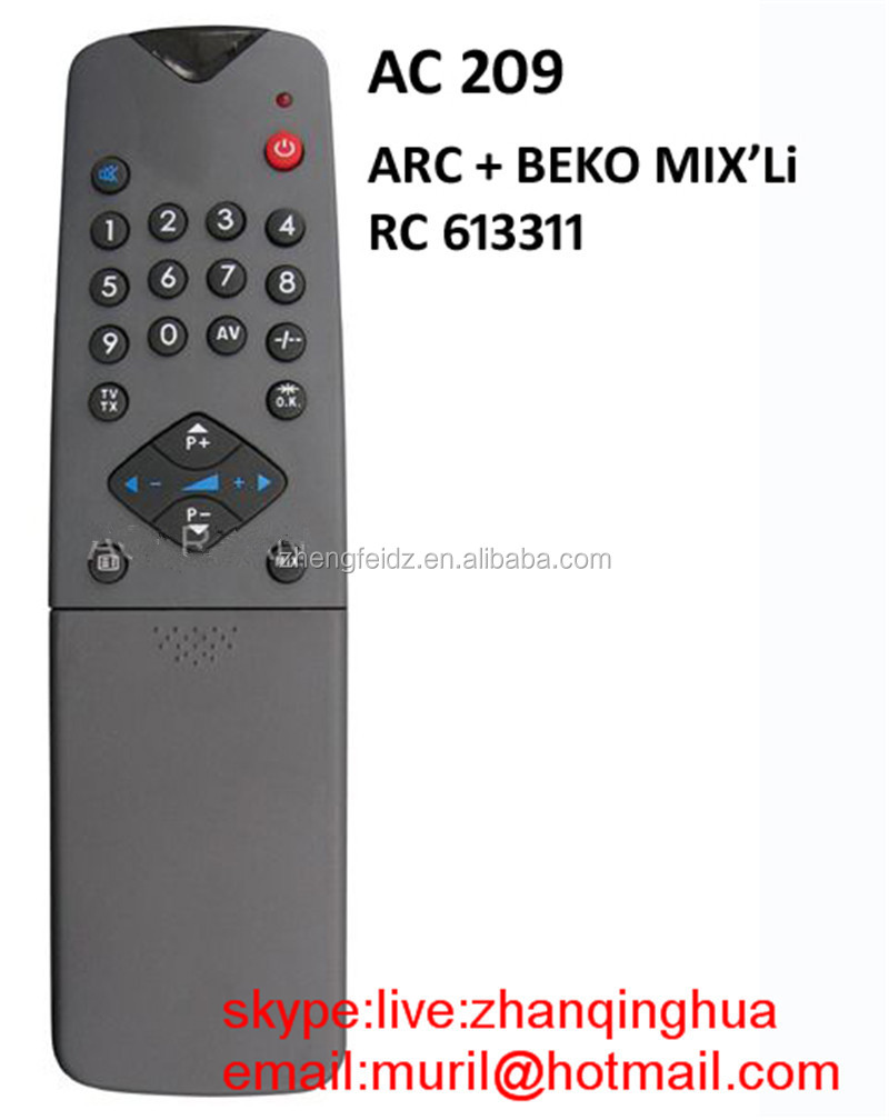 Black 35 Key D-smart Rs 803 Tv Remote Control For Turkey Market Ac ...