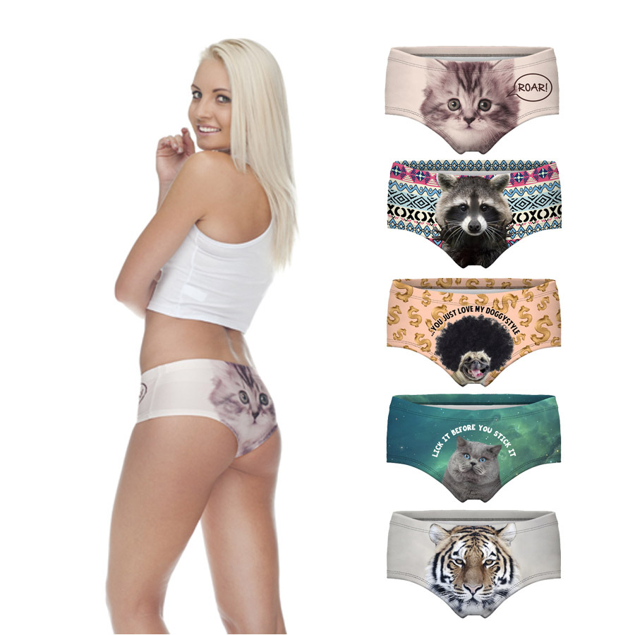 ladies hot sexy panties pug dog cut cat sexy girls tight lingerie