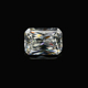 6A GH white color rectangle step cut shape Cubic Zirconia CZ gemstone