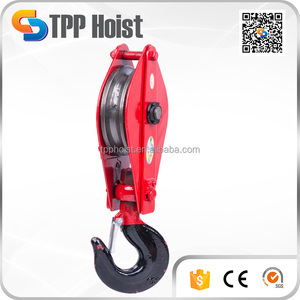 8T 10T 16T lifting tackles with swivel hook snatch pulley block