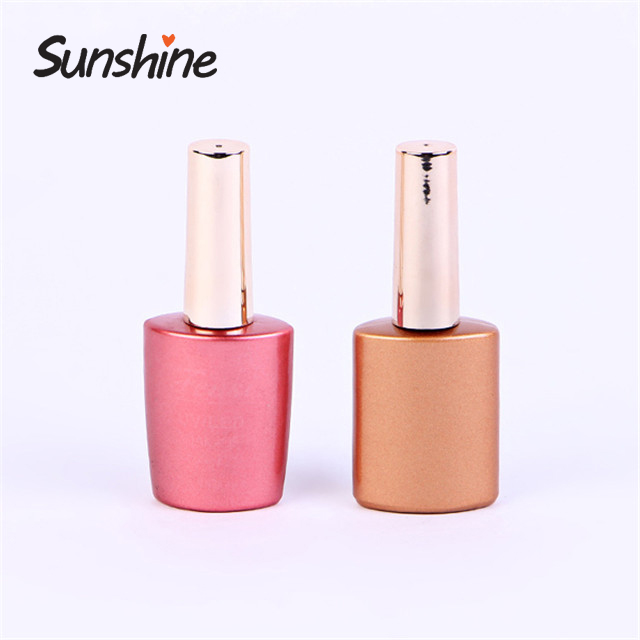Economic molded glass vial nail polish bottle for sale