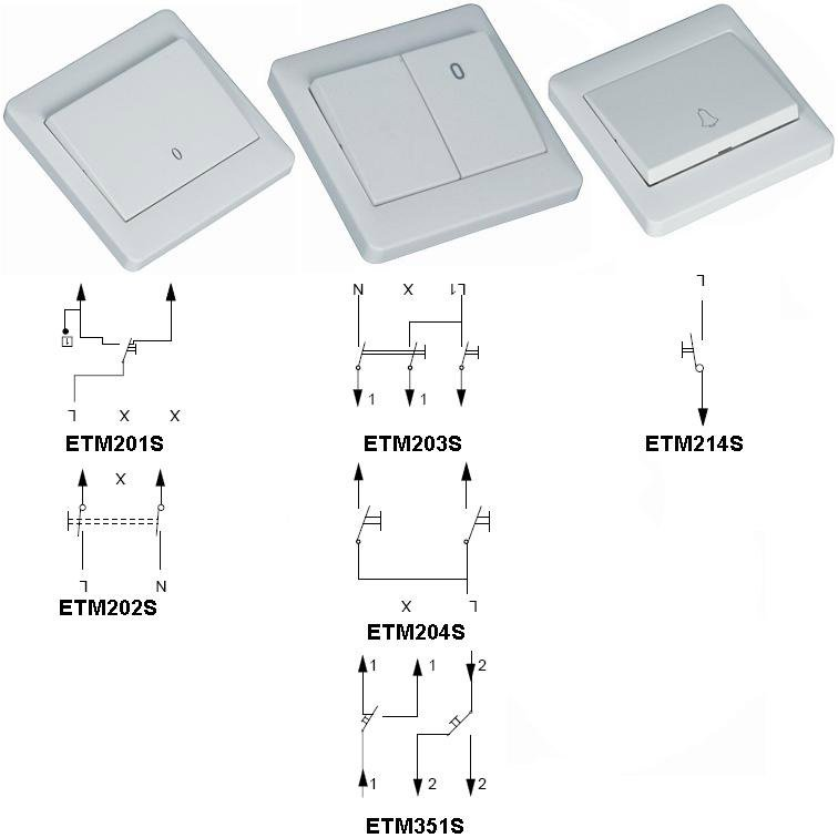 Flush-type Wall Switch For Installation - Buy Wall Switch,Switch ...