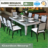 Gardern Wicker Furniture Table and Chair Outdoor Dining Set