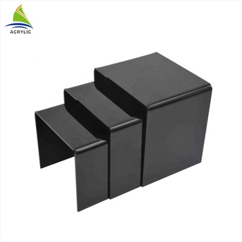 3 step acrylic display riser, quality square acrylic riser