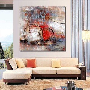 Modern Art Abstract Acrylic Oil Painting New Color Wall Artwork Home Goods Canvas Art Paintings Framed