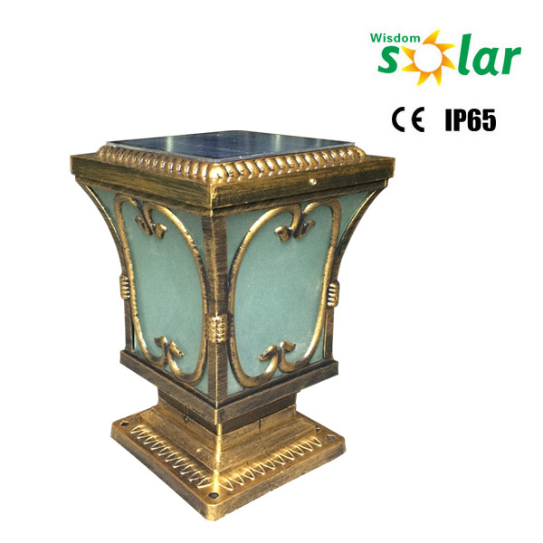 Brass Finish Pillar Gate Lights/ Solar Pillar Gate Lights / Main ...