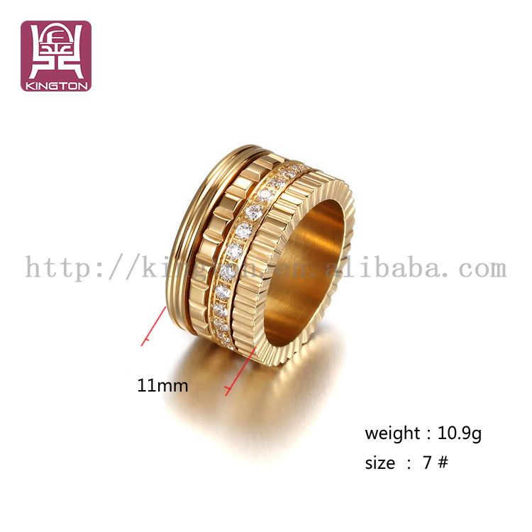 latest gold stainless steel rings design for women with price ...