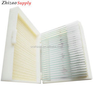 Medical 15pcs specimen glass prepared slides for student biological study