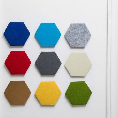 Cheap recycled soundproof Wall decorative pet hexagon acoustic <strong>panel</strong>
