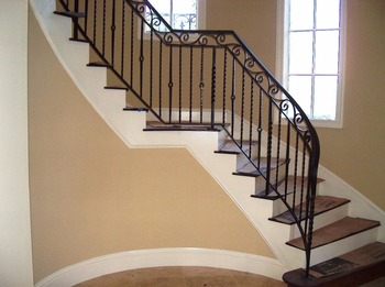 Stair Spindle Baluster Iron Pipe Railing Balustrades U0026 Handrails Stair  Spindle Baluster
