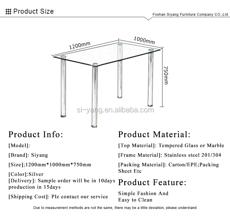 Low Price Tempered Glass Top Simple Design Dining Table Ct014 Buy