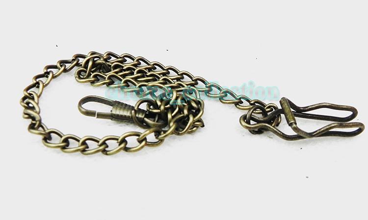 Бронза цвет 1 шт. цепочка для карманных часов, 38 см 1.2FT сплав ожерелье свитер ожерелья аксессуары ожерелья
